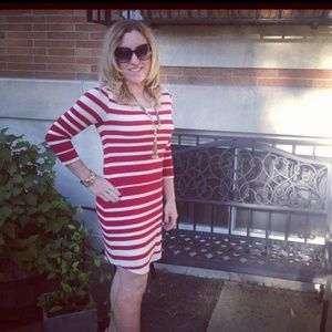 Red Haute Stripe Dress